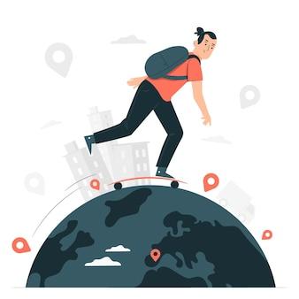 Ilustração do conceito ao redor do mundo