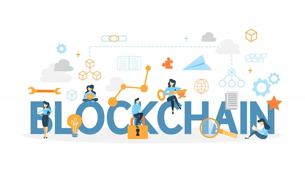 Ilustração do conceito blockchain.