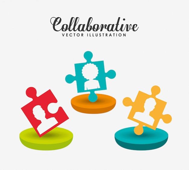 Ilustração do conceito colaborativo