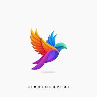 Ilustração do conceito colorido de pássaro