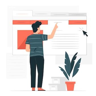 Ilustração do conceito da guia de informações