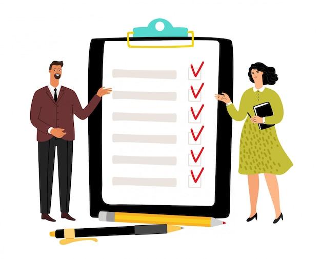 Ilustração do conceito da lista de verificação