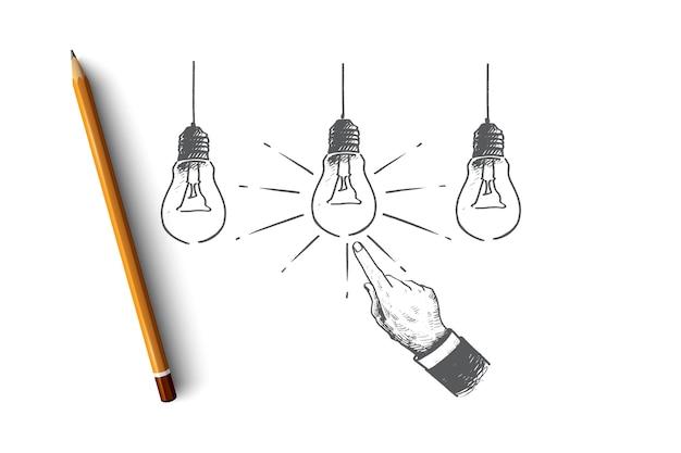 Ilustração do conceito da melhor ideia
