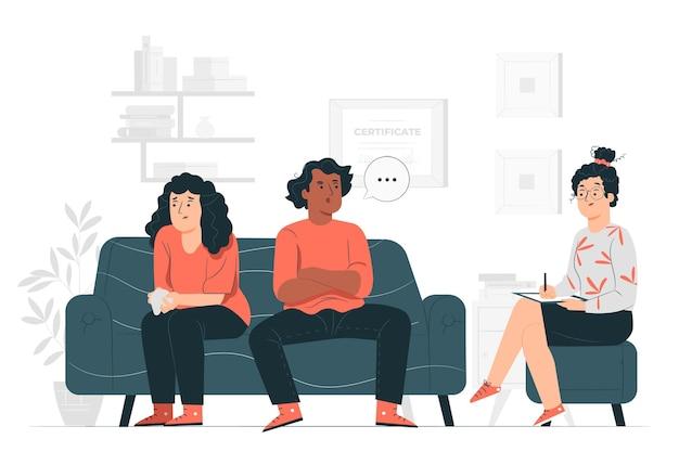 Ilustração do conceito de aconselhamento matrimonial