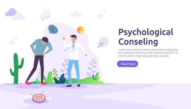 Ilustração do conceito de aconselhamento psicológico.