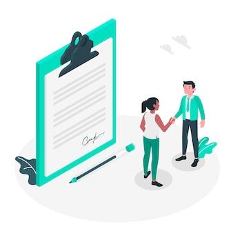 Ilustração do conceito de acordo