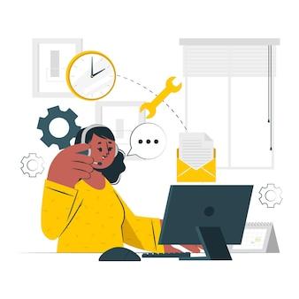 Ilustração do conceito de administrador