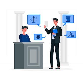 Ilustração do conceito de advogado