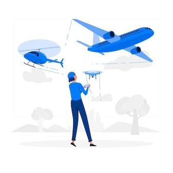 Ilustração do conceito de aeronave