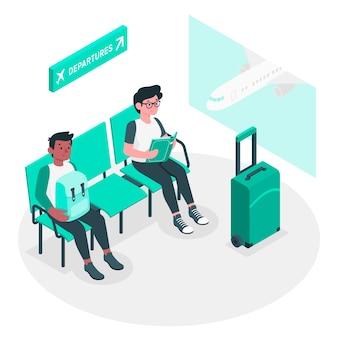 Ilustração do conceito de aeroporto