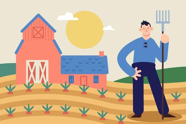 Ilustração do conceito de agricultura biológica