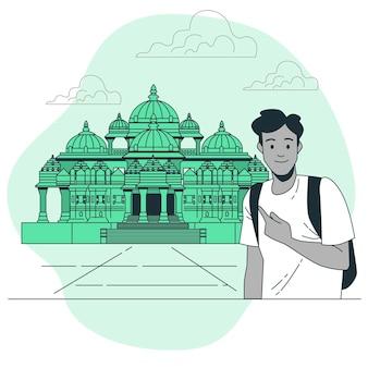 Ilustração do conceito de ahmedabad