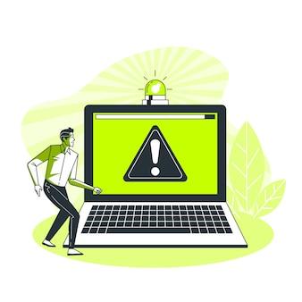 Ilustração do conceito de alerta