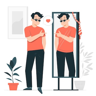 Ilustração do conceito de alta autoestima
