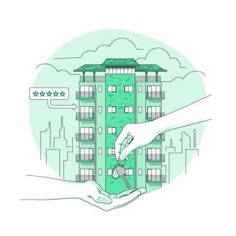 Ilustração do conceito de aluguel de apartamento