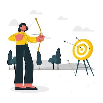 Ilustração do conceito de alvo