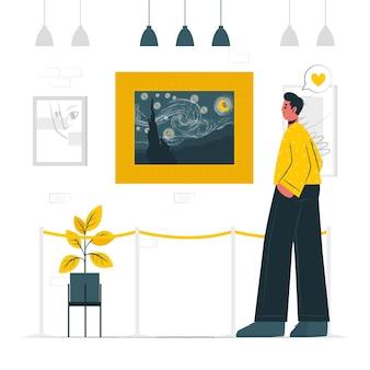 Ilustração do conceito de amante da arte