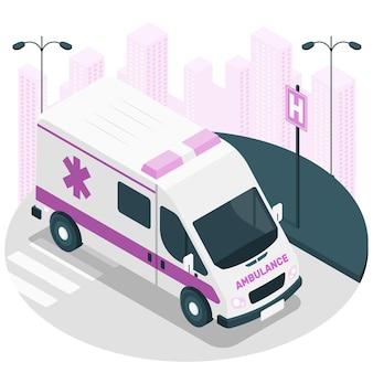 Ilustração do conceito de ambulância