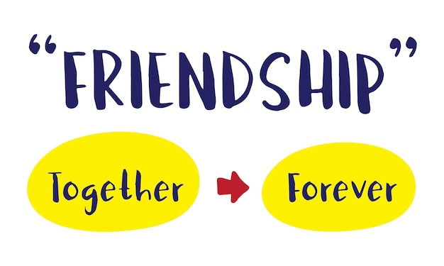 Ilustração do conceito de amizade