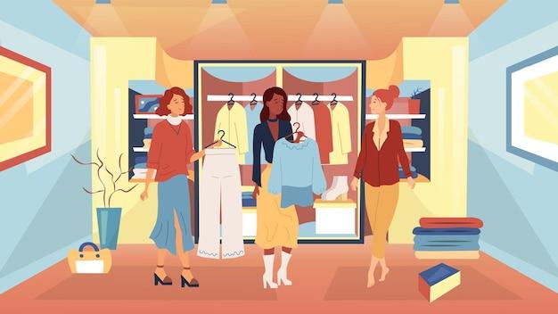Ilustração do conceito de análise de guarda-roupa