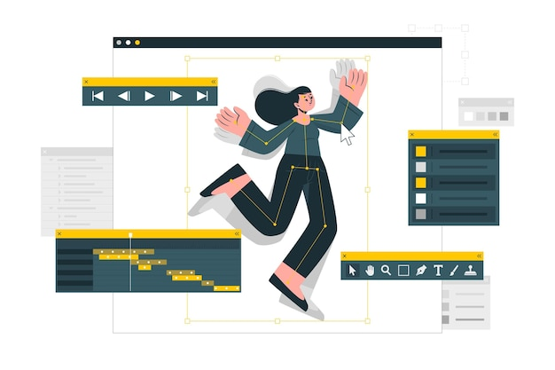 Ilustração do conceito de animação