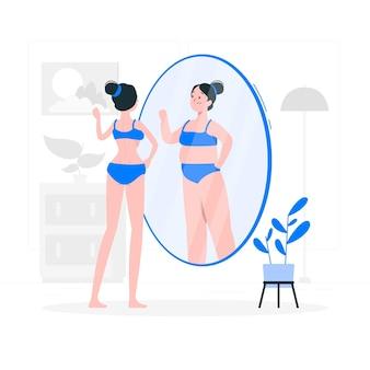 Ilustração do conceito de anorexia