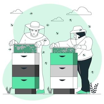 Ilustração do conceito de apicultura