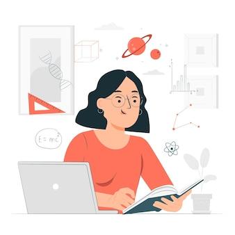 Ilustração do conceito de aprendizagem