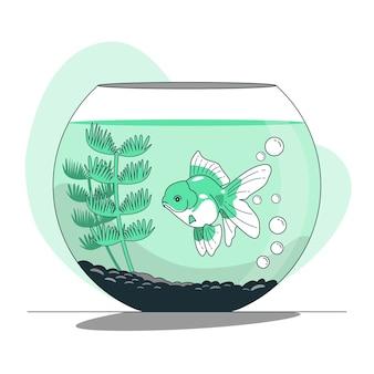 Ilustração do conceito de aquário