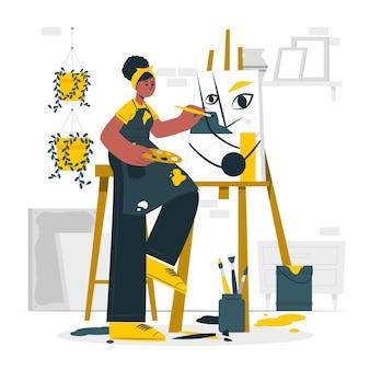 Ilustração do conceito de artista