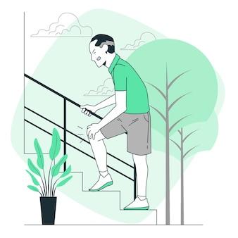 Ilustração do conceito de artrite