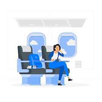 Ilustração do conceito de assento na janela
