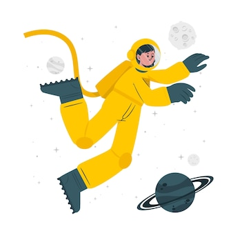 Ilustração do conceito de astronauta