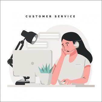 Ilustração do conceito de atendimento ao cliente