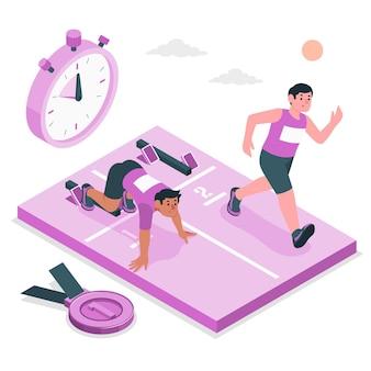 Ilustração do conceito de atletismo