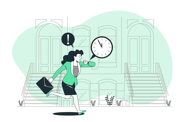 Ilustração do conceito de atraso