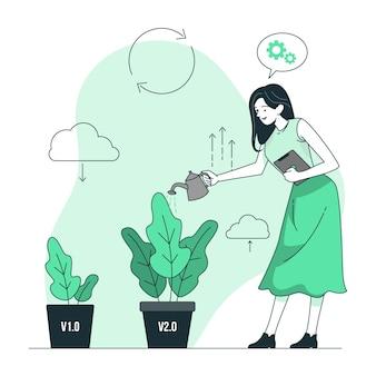 Ilustração do conceito de atualização