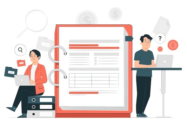 Ilustração do conceito de auditoria