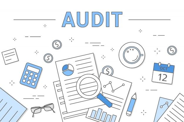 Ilustração do conceito de auditoria.