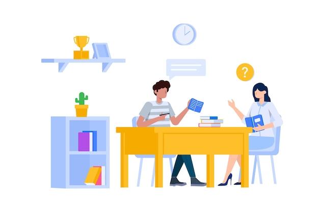 Ilustração do conceito de aula