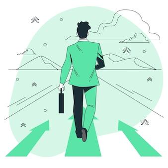 Ilustração do conceito de avançar