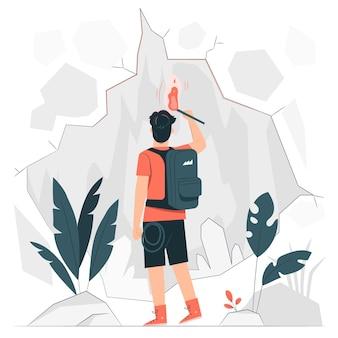 Ilustração do conceito de aventura