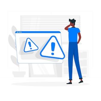 Ilustração do conceito de aviso