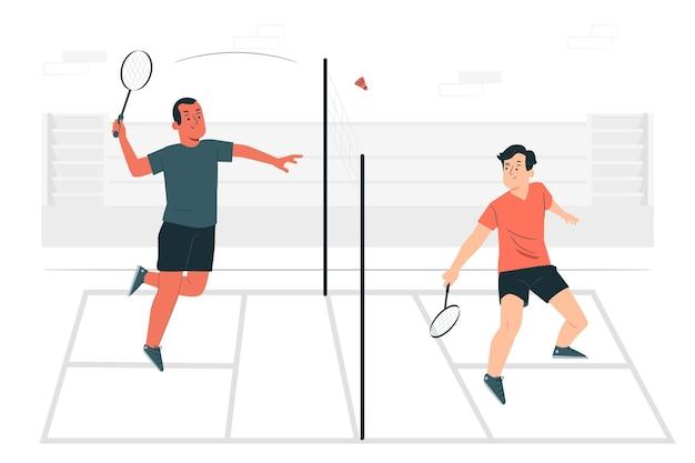 Ilustração do conceito de badminton