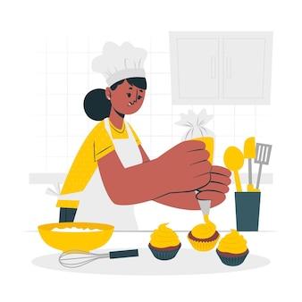 Ilustração do conceito de baker
