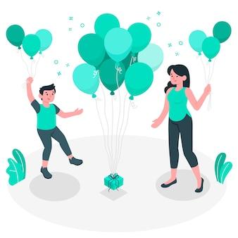 Ilustração do conceito de balões