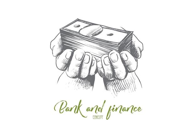 Ilustração do conceito de banco e finanças