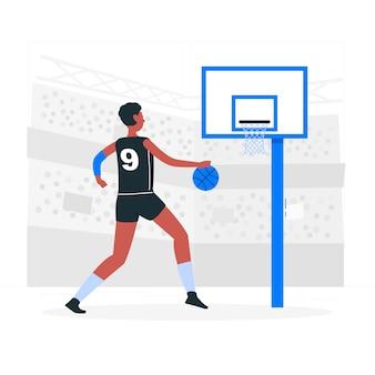 Ilustração do conceito de basquete