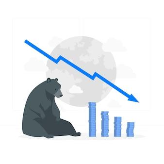 Ilustração do conceito de bear market