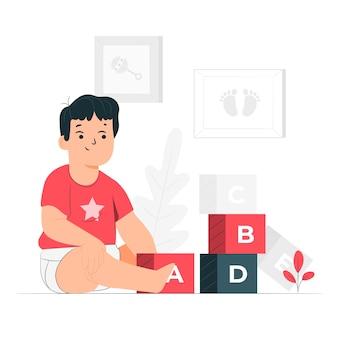 Ilustração do conceito de bebê